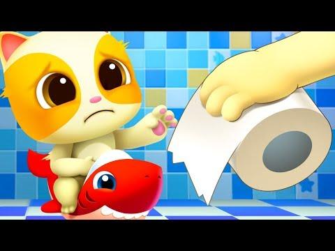 지독해~~고양이 응가해요|화장실동요 | 생활습관동요 | 세균송 | 유아교육|베이비버스 인기동요|BabyBus