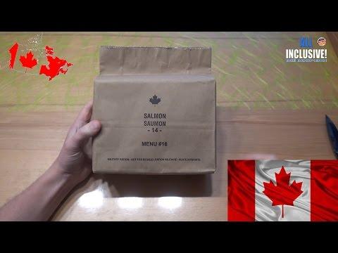 СухПай Канада. Чем кормят солдат Канады. Сухой паёк. вар. 16