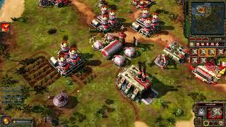 Red Alert 3 - Soviets vs 5 brutal AI - FFA
