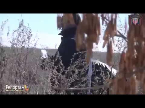 Испытание миномета с глушителем 82 мм производства ДНР