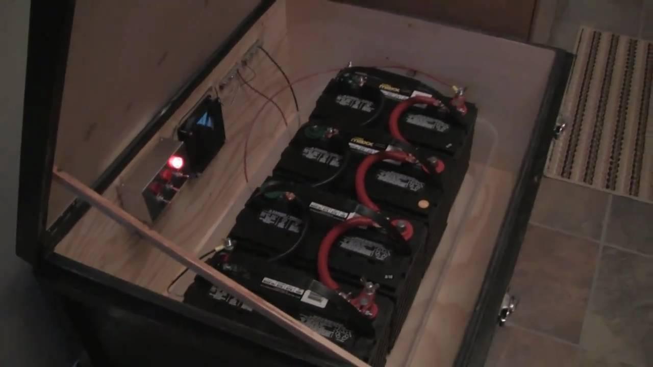 Emergency Power Solar System Battery Box Youtube