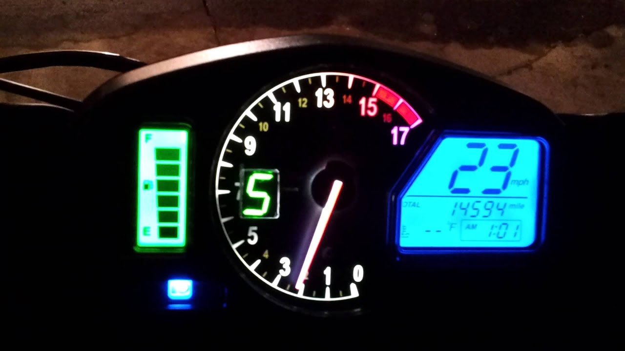 2012 Honda CBR 600RR Speedometer with integrated GI-DS Pro ...