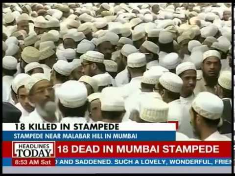 Mumbai: 18 killed in stampede at funeral of spiritual leader