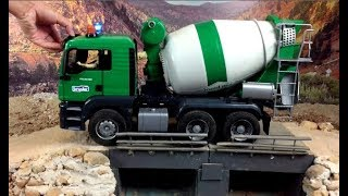 Construction Trucks for children - Bruder Toys - Truck for Children - Bruder Mixer Colors #24