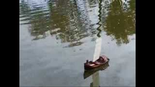 Chinese river junk RC sail boat