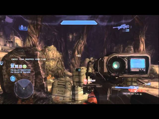 Spectacular Sniper Killtacular in Halo 4 (Noscope Included)