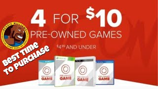 When to get good deals GameStop