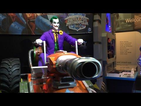The Joker Animatronic For Six Flags Justice League Dark Ride Iaapa 2014 video