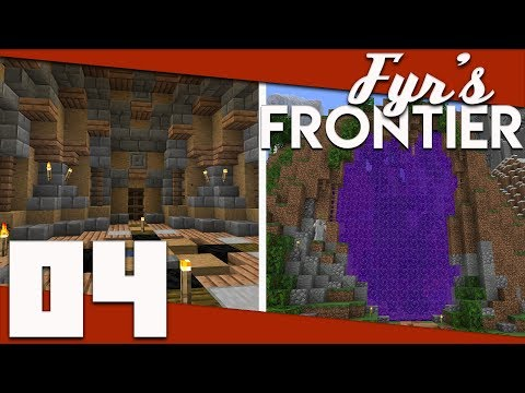 Minecraft: Fyr's Frontier - 004 - Giant Portals and Water Elevators   Minecraft 1.13 Solo Survival