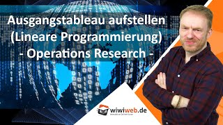 Operations Research: Ausgangstableau aufstellen (Lineare Programmierung)