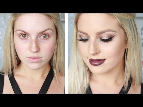Sultry Eyes & Dark Lips ♡ Sexy Vampy Makeup Tutorial
