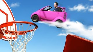 TINY Car Basket Ball Challenge! | GTA5