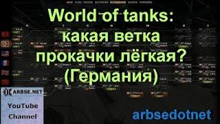 World of tanks: какая ветка прокачки лёгкая? (Германия)