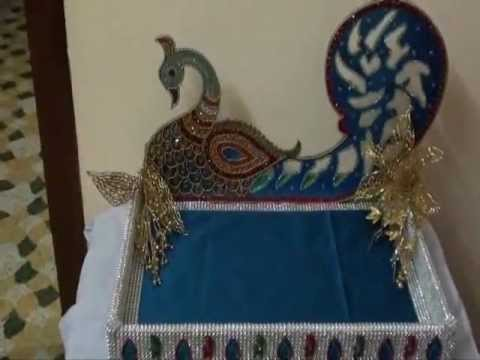 Wedding Tray With Peacock Design