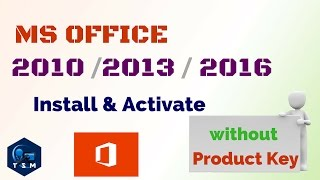 How to || Activate Microsoft Office (MS Office) 2010 || office 2013 || Office 2016 || Product Key