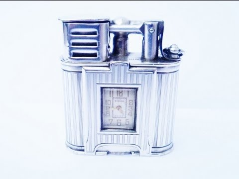 Alfred Dunhill Lighters Dunhill Lighter With Watch
