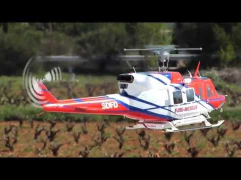 BIG Turbine RC Helicopter Bell 212 Fire Rescue