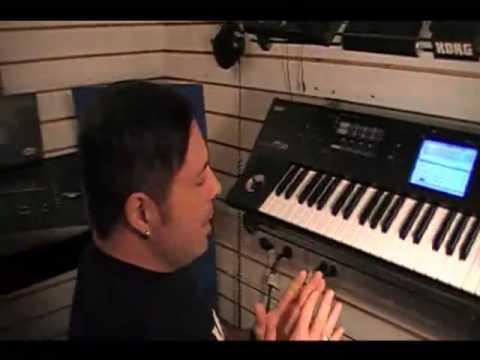 Korg M50 demo de como dividir el teclado diferentes sonidos