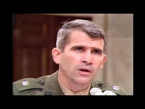 Oliver North, Osama bin Laden Hoax, Iran Contra Hearings, 7/8/1987