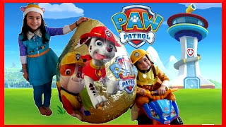 PAW PATROL TOYS Nickelodeon GIANT EGG SURPRISE OPENING Paw Patrol Power Wheels Kids Video