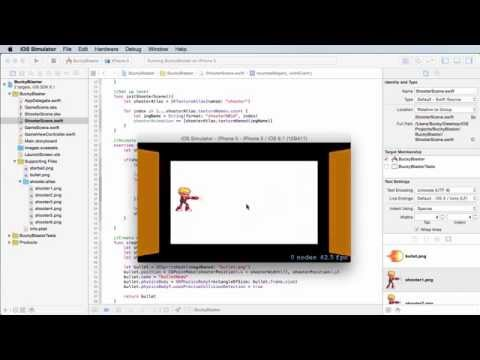iOS Development with Swift Tutorial - 38 - Firing the Bullet