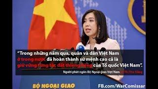 """Hãy học Luật trước khi cười nhạo bộ ngoại giao Việt Nam với phát ngôn """"cực lực phản đối"""" Trung Quốc"""