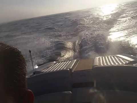 Cobalt 343 offshore... Actually offshore. Sydney sunrise