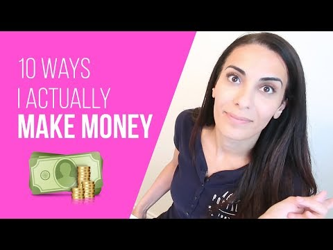10 Ways I Actually Make Money Online // Multiple Streams of Income Ideas