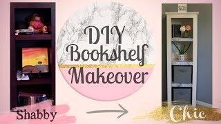 DIY Bookshelf Makeover | Marble Shelves