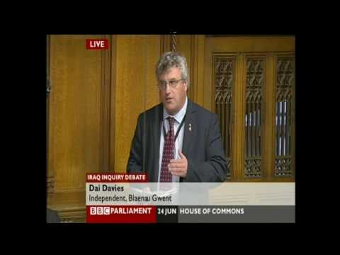 Iraq war, Chilcot inquiry debate, Dai Davies speech, 24/6/09
