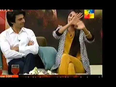 sanam saeed with fawad khan hum tv interview