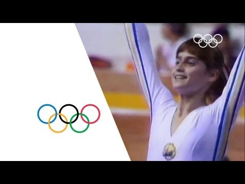 Nadia Comaneci - First Perfect Score | Montreal 1976 Olympics