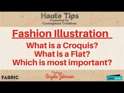 Fashion Design: Fashion Illustration - What is a Croquis? What is a Flat?