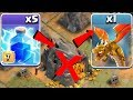 """ALL SPELLS vs. GOLDEN boSS!! NEW TROLL """"Clash Of Clans"""" How to train a dragon!!"""