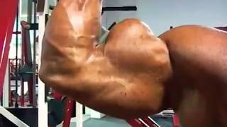 24 inches arms - biceps explotion || Brad Hollibaugh || muscle worship indonesia