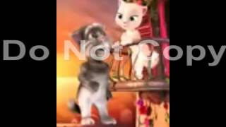 Tom cat and kitty in Hindi song Hum tere bin