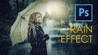 Photoshop Tutorial: Add RAIN Effect in your Photo
