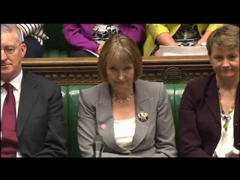 David Cameron Pays Modest Tribute to Harriet Harman