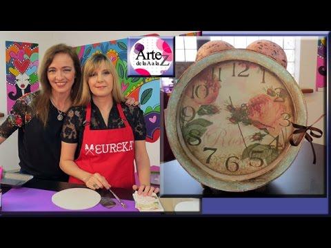 Ideas para hacer un reloj vintage con cart n youtube - Hacer reloj de pared con fotos ...