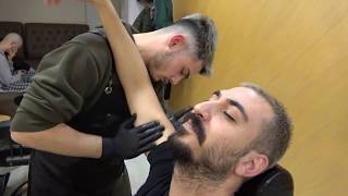 ASMR Turkish Barber Head,Face,Ear, Body and Back Massage (Barber Tunahan)