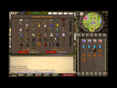 Zaofox: Runescape 2007: 1 Defence pure progress/ Bank – 100 barrows trips loot!