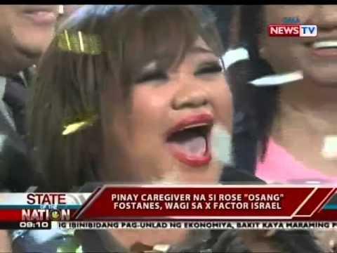"""SONA: Pinay caregiver na si Rose """"Osang"""" Fostanes, wagi sa X-Factor Israel"""
