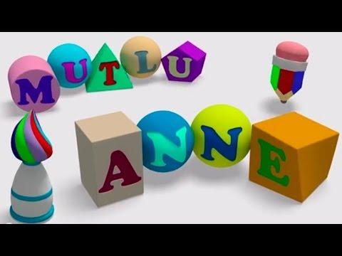 Eğitici Çizgi Film - Mutlu Anne 3 - Şekilleri Öğreniyoruz