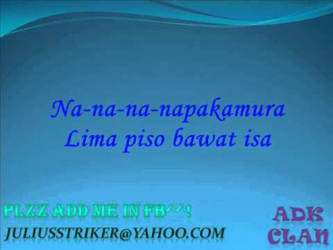 Panty Ni Shoni - Sir Rex Kantatero & Pakito Jones (on Screen Lyrics) video