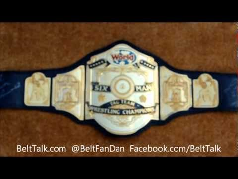 Real Reggie Parks Made RING USED NWA World 6 Man Tag Team Championship Wrestling Title Belt WWE WCW