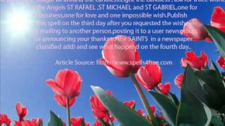 LIFE TIME WISH TO ANGELS ST RAFAEL ST MICHAEL ST GABRIEL