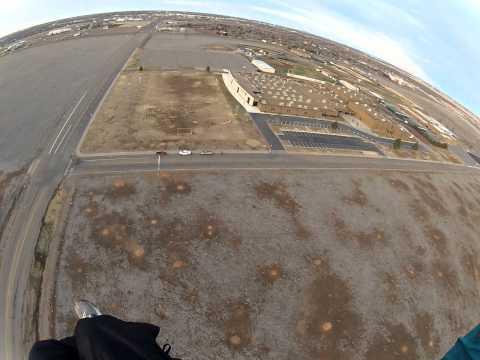 Powered paraglider flight from Randall High School Part 1