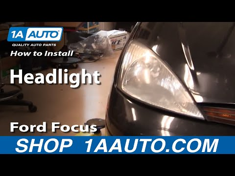 How To Install Replace Headlight And Bulb 99 04 Ford Super Duty F250