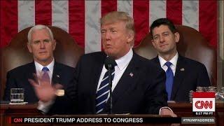 Mixed reaction to Trump