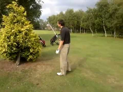Amazing golf shot out of a tree - Just like Tiger Woods !!!